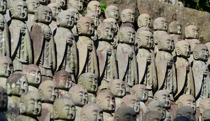 Japanese buddhist monk statues