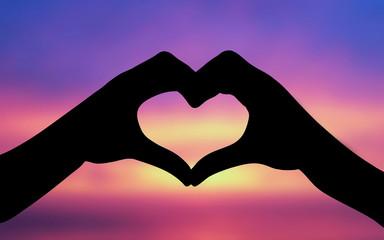 Gestures love heart
