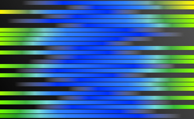 Retro Effect Green Yellow Blue Color Gradient Stripes Background - Abstract Retro Bars Style Digital Graphic Design Illustration, Template
