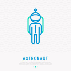 Astronaut thin line icon. Modern vector illustration of profession.