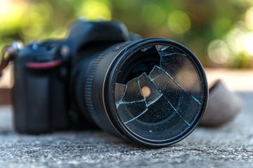 Filter camera lens broken