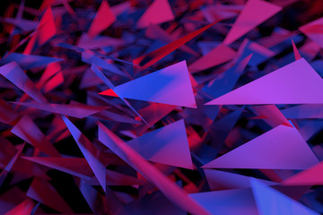 Abstract background of triangles. 3d illustration