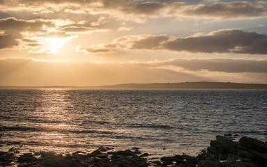 Sunset over Stroma, Scotland