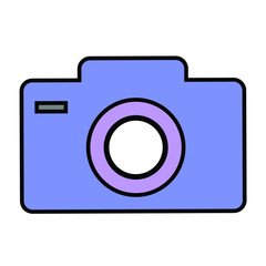 Photocamera. Vector illustration.