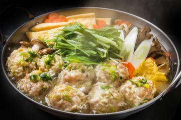 とりだんご鍋 Chicken dumpling hot pot Japanese food