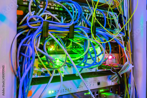 Awe Inspiring A Lot Of Network Wires Patch Panel Messy Wires In The Server Rack Wiring 101 Mecadwellnesstrialsorg
