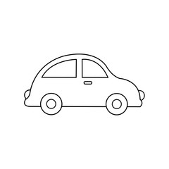 Car drawing. Car toy. Coloring pages for kids. Vector stock.