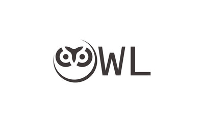 Owl abstract circle logo