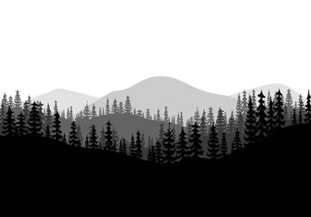 forest background vector.