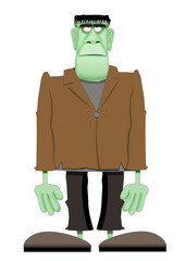 cartoon Frankenstein type monster