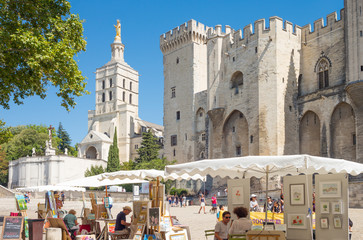 Foto auf Gartenposter Denkmal Architectures and monuments of Avignon