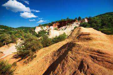 ocher quarries in the provençal colorado