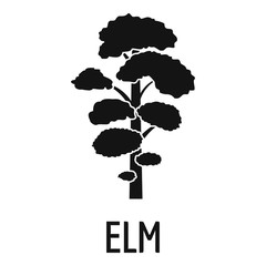 Elm tree icon. Simple illustration of elm tree vector icon for web