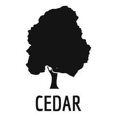Cedar tree icon. Simple illustration of cedar tree vector icon for web