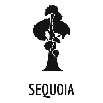 Sequoia icon. Simple illustration of sequoia vector icon for web