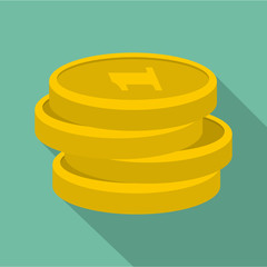 Concept coin icon. Flat illustration of concept coin vector icon for web