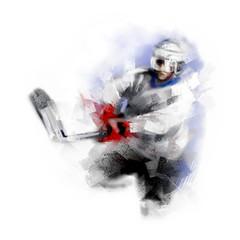 Digital illustration of a hockey player