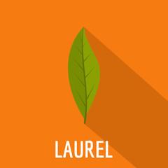 Laurel leaf icon. Flat illustration of laurel leaf vector icon for web