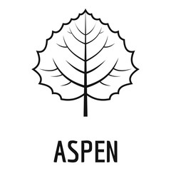 Aspen leaf icon. Simple illustration of aspen leaf vector icon for web