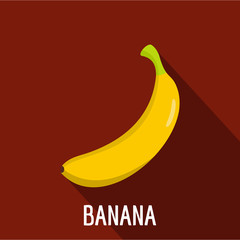 Banana icon. Flat illustration of banana vector icon for web