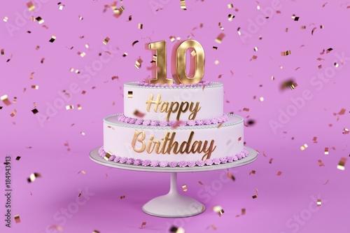 Geburtstagstorte 10 Jahre