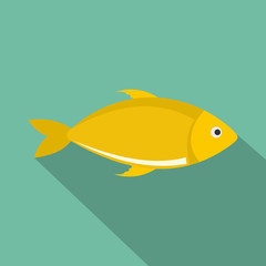 Fish icon. Flat illustration of fish vector icon for web