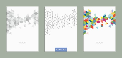 Brochure, flyer, template, corporate identity. Wall mural