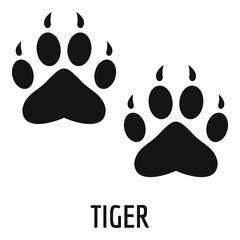 Tiger step icon. Simple illustration of tiger step vector icon for web