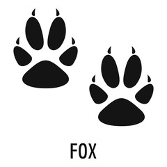 Fox step icon. Simple illustration of fox step vector icon for web