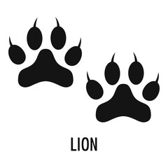 Lion step icon. Simple illustration of lion step vector icon for web