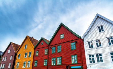 View of historical buildings in Bergen, Norway. Artistic picture. Beauty world.