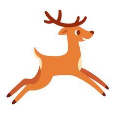 Cartoon deer running