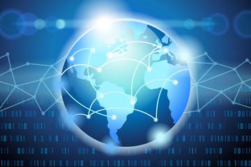 Global Network Internet Background Vector Illustration 1