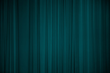 Turquoise fabric background.