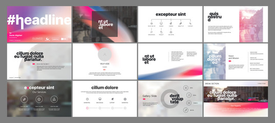Minimal presentation templates elements on a white background. Vector infographics. Use in Presentation, flyer and leaflet, corporate report, marketing, advertising, annual report, banner. Wall mural