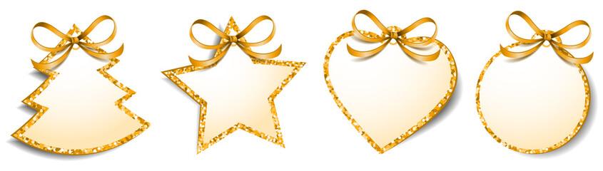 Weihnachten Symbole Geschenk Anhänger Set