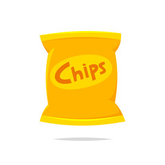 Bag of chips vector isolated