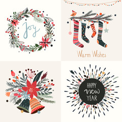 Christmas greetings card collection