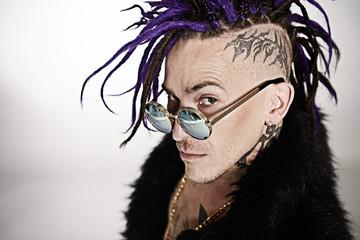 punk rock musician posing