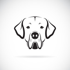 Vector of Great Dane dog head on white background. Pet. Animals. Dog Icon.