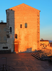 Gubbio, Italy. One of the most beautiful small town in Italy. The main square and the City Hall