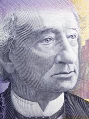 John A. Macdonald portrait from Canadian money