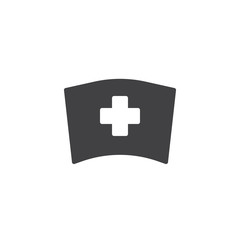 Medical nurse hat icon vector, filled flat sign, solid pictogram isolated on white. Symbol, logo illustration.