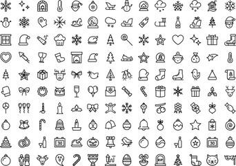 140 Christmas Icons set