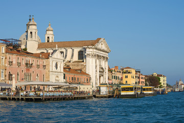 A sunny day  at the church of Il Redentore. Giudecca Island, Venice