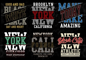 typography varsity collection 01