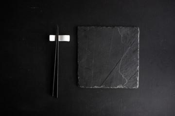 Table set with chopsticks
