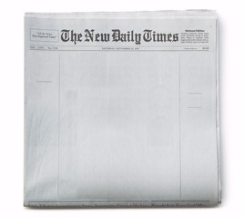 Fake Newspaper Front Blank with Fake Publication Title