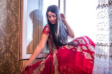 girl in indian dress