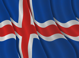 Illustraion of Icelandic Flag